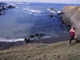 Woman Trail Running  Mendocino  California