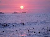 Beach at Sunset  Rio de Janeiro  Brazil