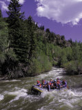 People Rafting in Blue River North of Silverthorne  CO