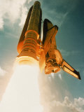 Space Shuttle Lifting Off
