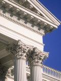 Detail of State Capitol Building  Sacramento  CA
