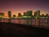 Skyline After Sunset  New Orleans  Louisiana