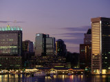 Inner Harbor at Dusk  Baltimore  Maryland