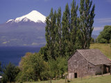 Farm House with Mountain in Background  Chile
