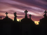 Cemetery at Sunset  New Orleans  Louisiana