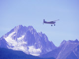 Aircraft in Flight Over Mountain  Haines  Alaska