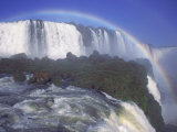 Rainbow Over Iguassu Falls  Brazil and Argentina