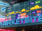 Marketsite Sign at Nasdaq  NYC  NY