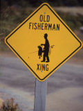 Old Fisherman Crossing Sign  Westerly Beach  RI
