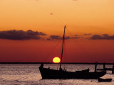 Sunset and Fishing Boats  Isla Mujeres  Mexico