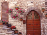 Exterior of House with Flowers  Italy