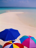 Umbrellas on Beach  Maldives