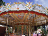 Old Carousel in Tuileries Garden  Paris  France