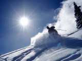 Man Skiing at Breckenridge Resort  CO