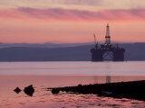 Oil Rig at Dawn  Ross-Shire  Scotland
