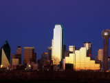 Skyline at Dusk  Dallas  TX