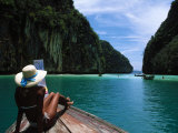 Woman on Boat  Phi Phi Island  Phuket