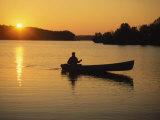 Georgia  Canoe on a Lake at Sunrise