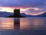 Castle Stalker at Dusk  Argyll  Scotland
