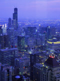 Skyline Dusk  Chicago  IL