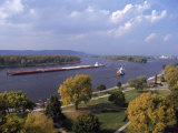 Aerial of Mississippi River  La Crosse  WI
