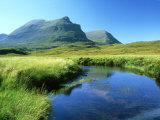 Quinag from Unapool Burn  Scotland