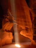 Stream of Light Through Upper Antelope Canyon  Page  USA