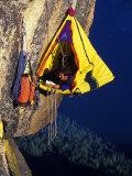 Rock Climber Resting off Rock