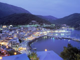 Town & Harbor at Night  Epirus  Greece