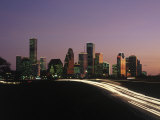 Night Skyline  Houston  Texas