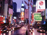 Times Square at Night  NYC  NY