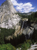 Nevada Fall and Half Dome  Yomite National Park  CA