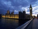 Big Ben  Parliament  River Thames  UK