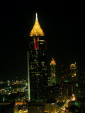 Atlanta Tower and Skyline at Night  Atlanta  GA