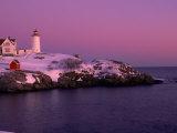 Nubble Lighthouse  Sunset  Cape Neddick  York  ME