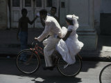 Bride and Groom on Bike  Havana  Cuba