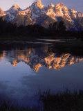 Dawn  Grand Tetons  WY