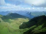 View from Slaettaratindur  Faroe Islands