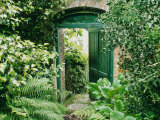 Doorway in Wall Leading to Kitchen Garden Trevarno  Cornwall