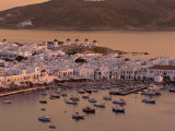 Aerial View of Mykonos Town  Mykonos  Greece