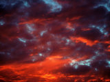 Clouds in Red Sky  Truckee  CA