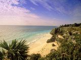 Caribbean Sea  Tulum  Yucatan  Mexico
