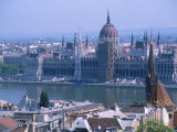 Parliment and the Danube River  Budapest  Hungary