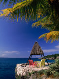 Rock House with Colorful Chairs  Negril  Jamaica