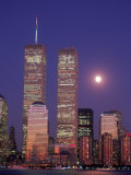 World Trade Center and Moon  NYC