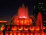 Buckingham Fountain at Night  Chicago  Illinois