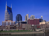 Riverfront Park and Downtown  Nashville