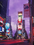 Millennium Sign and Times Sq at Night  NYC