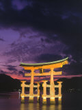 Floating Torii with Dark Clouds  Japan