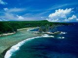 Aerial of Bird Island  Saipan